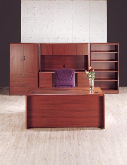 Modulo directivo de oficina escritorio credenza librero for Modulos de escritorio para oficina