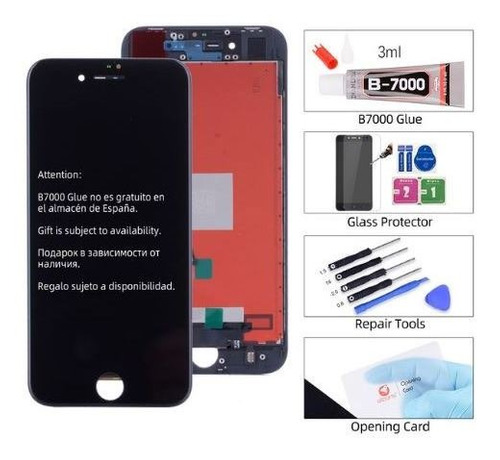 modulo display iphone 8 negro o blanco pantalla + vidrio kit
