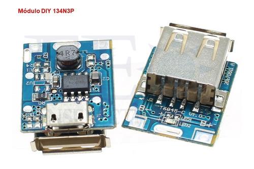 módulo diy 134n3p cargador batería litio 18650 5v pawer bank