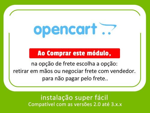 módulo dos correios para opencart todas as versoes - oficial
