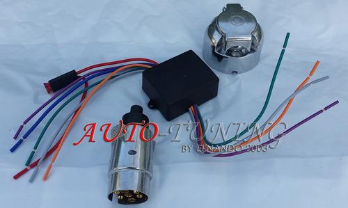 modulo electronico completo para luces de trailer+conectores