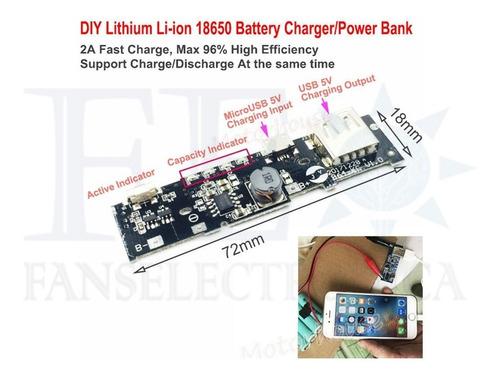 modulo elevador cargador bateria litio 3.7v- pawer bank