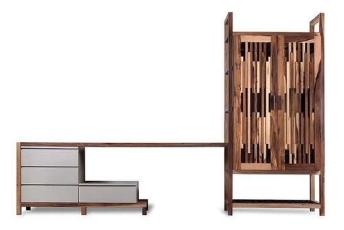 modulo escritorio completo con ropero