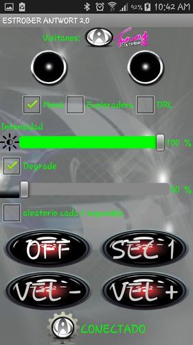 módulo estrober bluetooth antwort 2 salidas 120w
