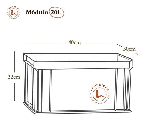 módulo extra 20 l para composteras lumbricus