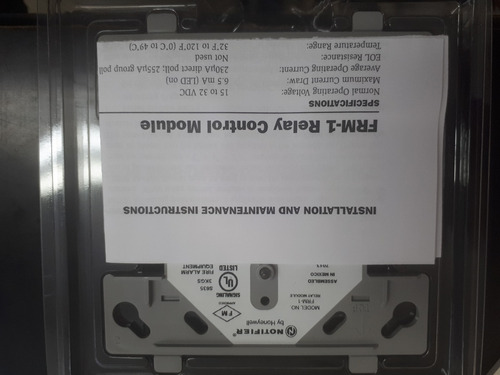 modulo frm-1 notifier by honeywell