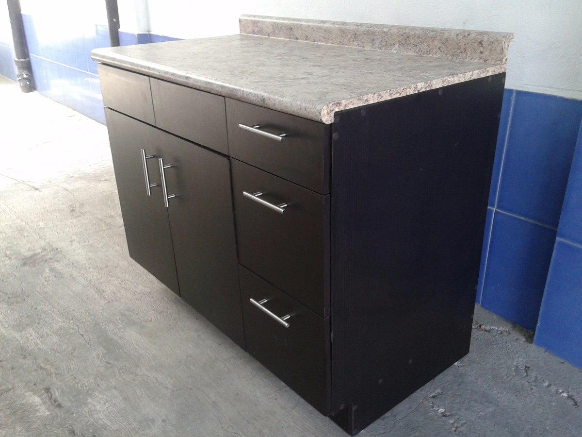 Modulo gabinete para fregadero nuevo color chocolate for Mueble fregadero cocina