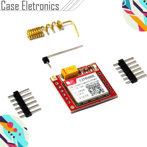 módulo gprs gsm sim800l com antena e pinos - arduino