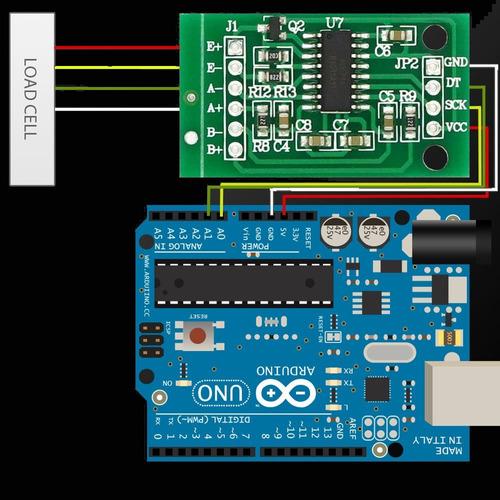 módulo hx711 24bit 2ch célula de carga balança - arduino