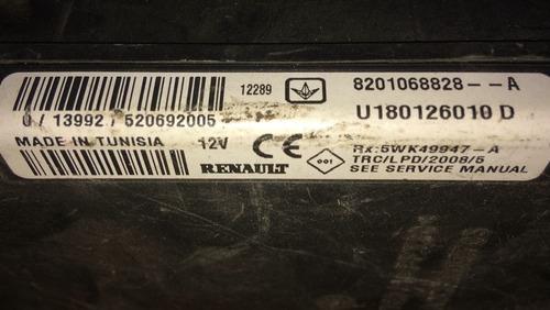 modulo imobilizador 8201068828-a / u180126010d logan 2012