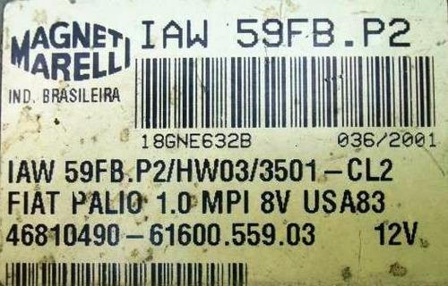 modulo injeçao palio 1.0 8v  iaw59fb.p2  produto usado