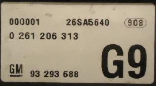modulo injeção astra 2.0  0261206313  93293688 g9