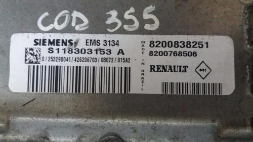 modulo injeção sandero -  8200838251 - ems 3134