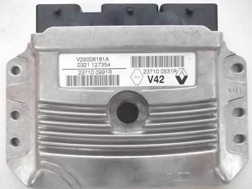 modulo injeção sandero clio 237100991r / v29008181a