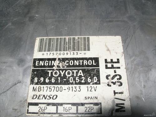 modulo injeção toyota corona 2.0 manual    -     89661-05260