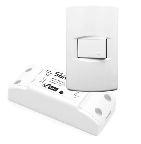 modulo interruptor 220v wifi, domotica con tecla local.