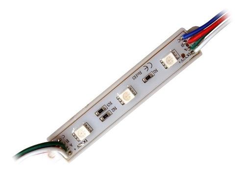 modulo led 5630 3 leds 12v rgb exterior ip65 carteles