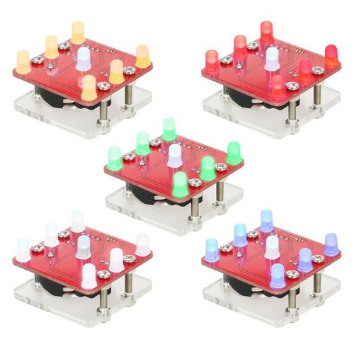 módulo led para dado con motor de vibración pequeña, azul