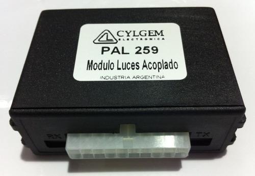 modulo luces trailer acoplado cylgem + ficha metalica 7 vias
