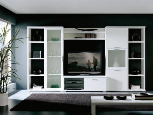modulo mesa lcd led dvd 1 puertas mas 2 repisa mas estantes.