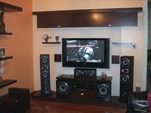 modulo mesa lcd led dvd  audio repisa colgante estantes.