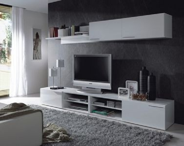 modulo mesa lcd led dvd repisa colgante estantes.