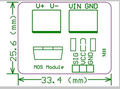 módulo mosfet irf520 driver motor dc/fita de led arduino