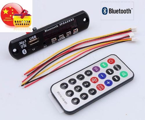 modulo mp3, bluetooth y ctrl remoto. 12v. para amplifiicador