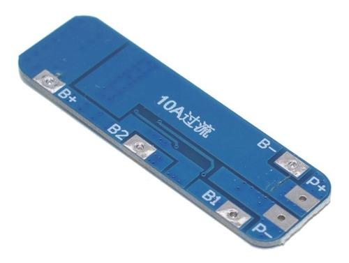 modulo placa protección cargador 3 celdas 18650 12.6v 10a