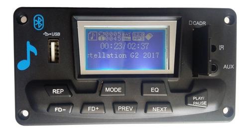 módulo pré amplificador lcd usb/bluetooth/fm/mp3