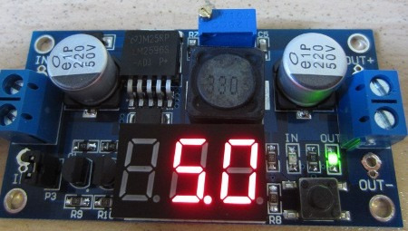 modulo  regulador lm2596 + voltimetro digital led arduino