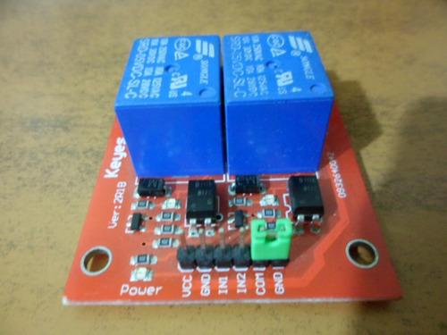 modulo relay 2 canales arduino pic funciona con 1 logico.