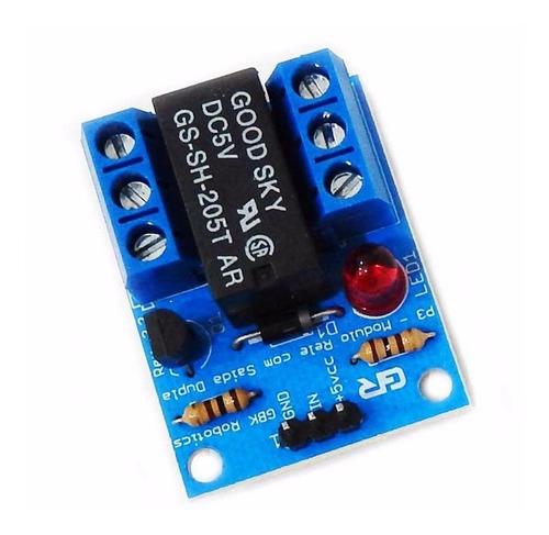 modulo rele 1 unidade 2 contatos 5v p3 arduino gbk robotics