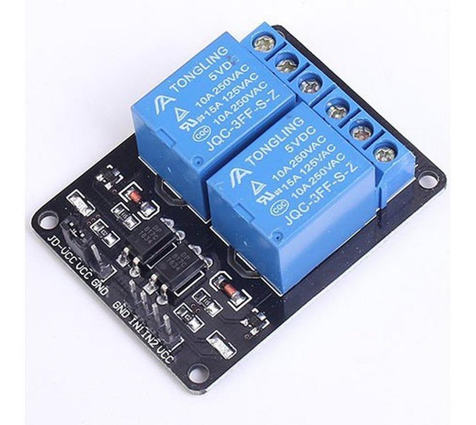 Modulo Rele 127/220vac 2 Canais Arduino 5v Entrada 05v - R