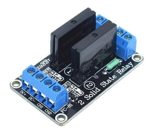 módulo relé 2 canales estado sólido ssr / electroardu