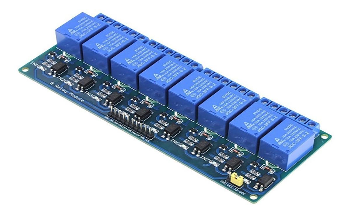 Modulo Rele 8 Canales Rele Para Arduino Con Optocoplador