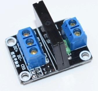 módulo relé estado sólido 1 canal 5v 2a arduino com fusível