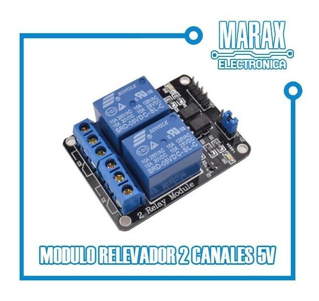 Módulo Rele Relay 2 Canales Para Arduino