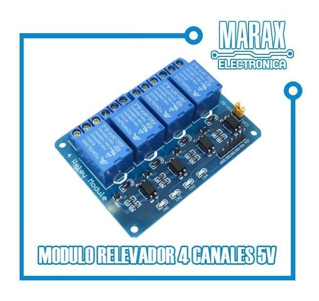 Módulo Rele Relay 4 Canales Para Arduino