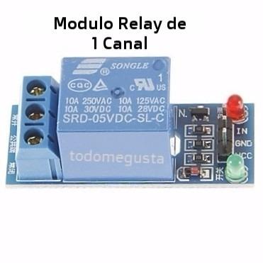 módulo rele reley relevador 1 canal 5v pic robótica arduino