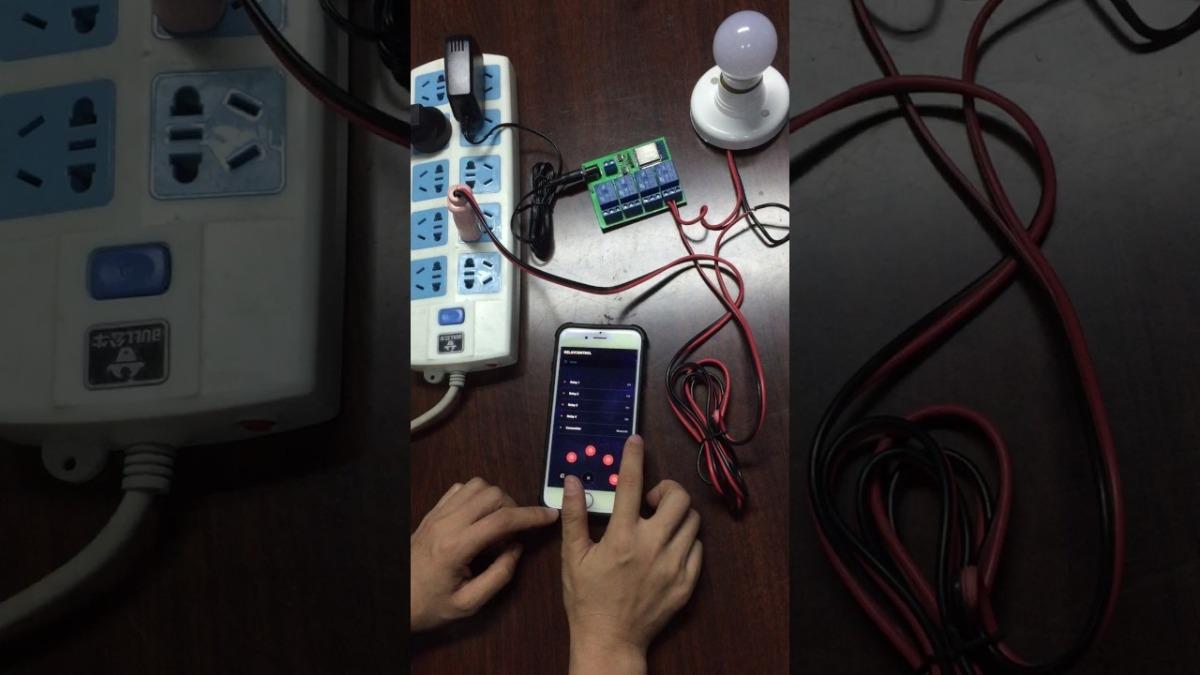Módulo Relé Wifi 4 Canais Com Esp32 App Android iPhone Esp