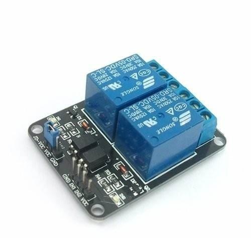 modulo rele x 2 canales 5v arduino bornera 250v 10a