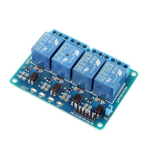 modulo  relevador 4 canales (rele relay), arduino, pic, avr