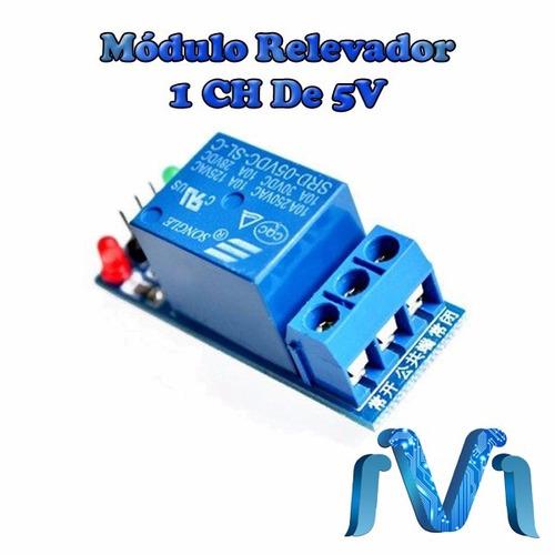 módulo relevador de 5v para arduino relay 1 canal