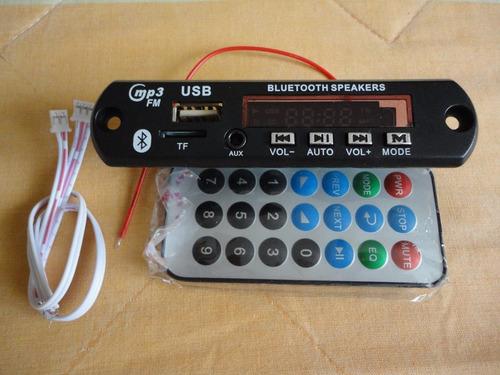 modulo reproductor mp3 usb/microsd/fm/bluetooth