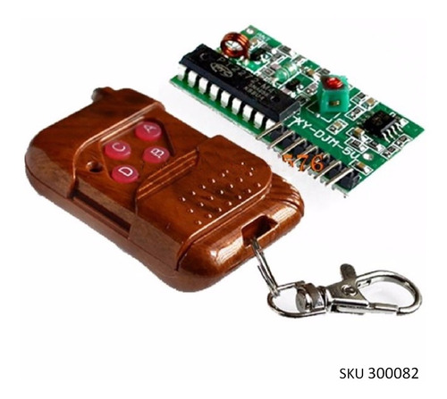 modulo rf 4 canalescontrol remoto ic pt2272/2262 315mhz w01