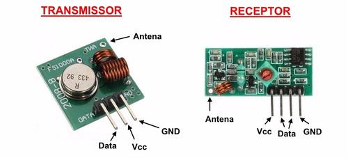 modulo rf 433mhz - transmissor + receptor arduino pic