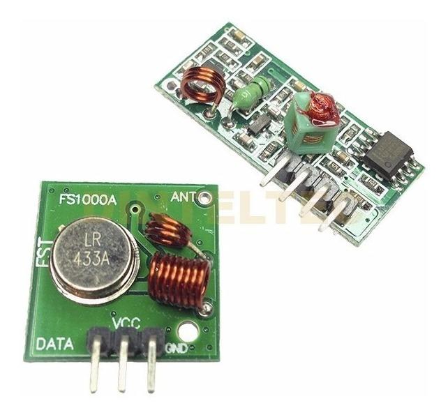 Modulo Rf Transmisor Receptor 433mhz Inalambrico Usa Arduino