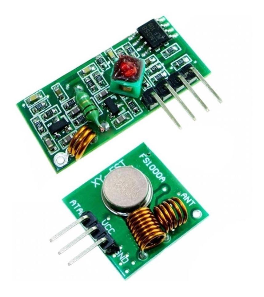 Módulo Rf Transmisor Y Receptor 433mhz 433 Mhz Arduino