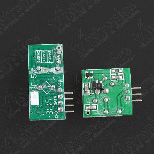 módulo rf transmisor y receptor 433mhz